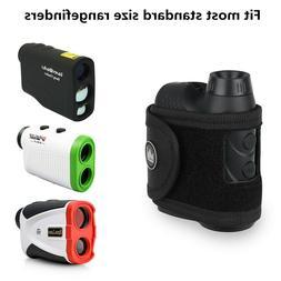new black magnetic rangefinder strap holder case
