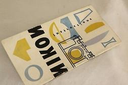 original Nikon rangefinder instruction book for Nikon S