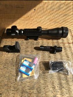 Pinty 3 In 1 Scope Combo- 4-12x50eg Rangefinder Illuminated