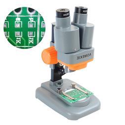 40X Portable Binocular Stereo Microscope LED For PCB Repairi
