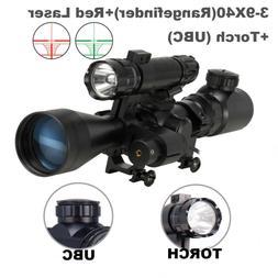 Rangefinder Rifle Scope with Laser Sight &Torch Flashights 3