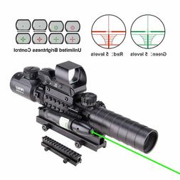 Pinty Rifle Scope 3-9x32EG Rangefinder Illuminated Reflex Si