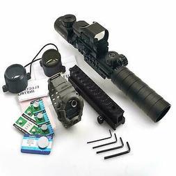 Rifle Scope 3-9x32EG Rangefinder Reflex Dot Sight Green Lase