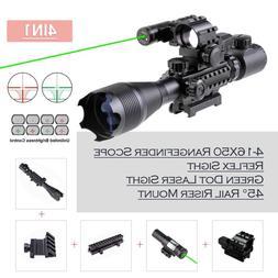 Rifle Scope Combo 4-16x50 Holographic Reflex Dot Sight Green