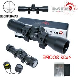 AIM SPORTS 4X32 Compact .223 .308 Scope /w Rings Rangefinder