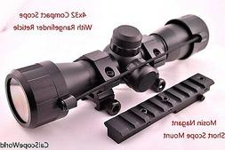Tactical 4x32 Scope With Rangefinder Reticle and Mosin Nagan