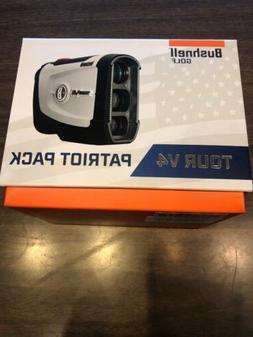 Bushnell Tour V4 Patriot Pack Golf Laser Rangefinder with Jo