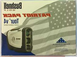 NEW Bushnell Tour V4 Patriot Pack Laser Rangefinder w Blue S