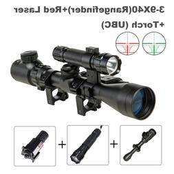 UBC 3-9X40EG Hunting Rangefinder Tatical Rifle Scope with Re