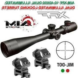 Aim Sports XPF Series 10-40 X 50mm Rifle Scope W/ Rangefinde