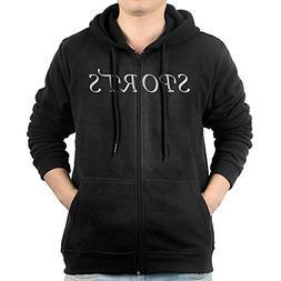 Sports Mens Zip Fleece Hoodie Fashion Hooded Sweater for Man